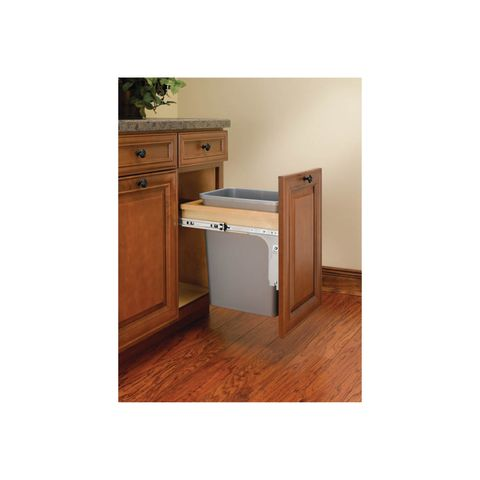 Rev-A-Shelf 4WCTM Series Single 35 Quart Top Mount Waste Container - Reduced Depth