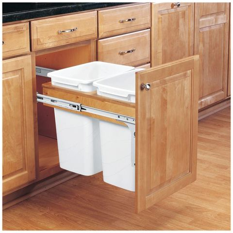 Rev-A-Shelf 4WCTM Series Double 35 Quart Top Mount Waste Container