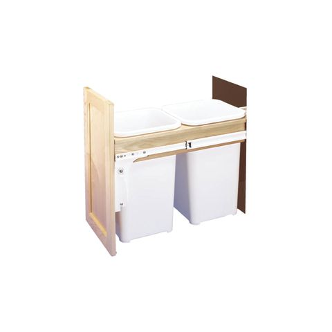 Double 50 Quart Top Mount Waste Container