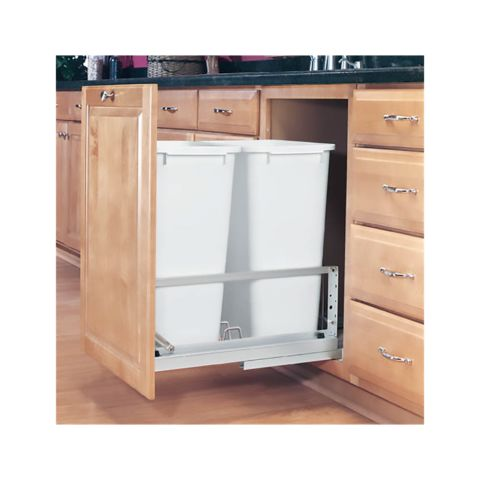 Rev-A-Shelf 5349 Series Double 50 Quart Pullout Waste Containers