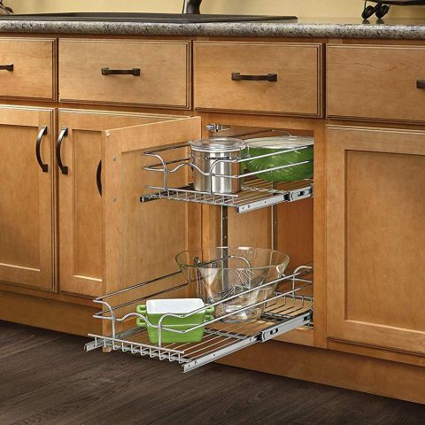 5WB Series Double Pull-Out Chrome Baskets