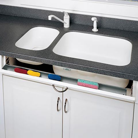6540 Series Polymer Slim Sink Front Tip-Out Tray