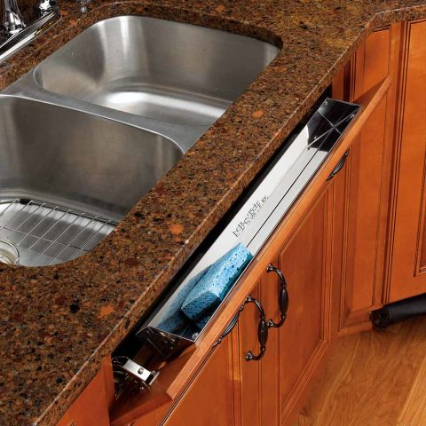 Rev-A-Shelf 6581 Series Stainless Steel Sink Front Tip-Out Tray Only