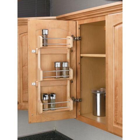 Door Storage Wood Spice Rack