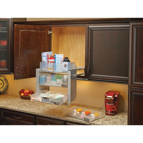 Cabinet Pull-Down Universal Shelving System