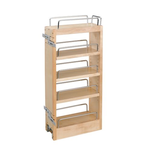 448 Series Wall Cabinet Hood Organizer with Wood Adjustable Shelves