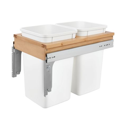 4WCTM Series Door Mount Double Waste Container (Frameless)