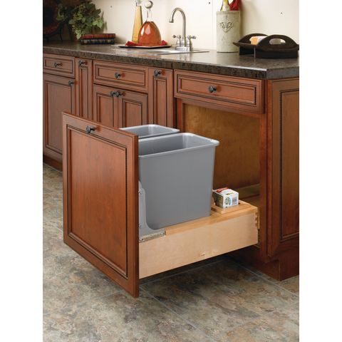 4WCBM Series Wood Bottom Mount Waste Container with Rev-A-Motion™