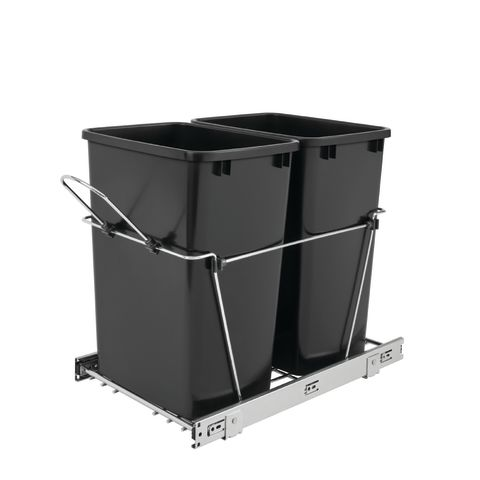 RV Series Double 27 Quart Wire Frame Bottom Mount Waste Containers