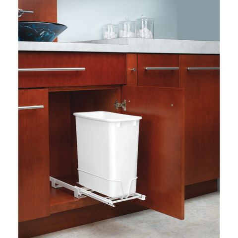 RV Series Wire Bottom Mount Waste Container with 3/4 Extension Slides