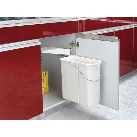 8-700 Series Built-In Pivot Out Rectangular Polymer Waste Container With Lid