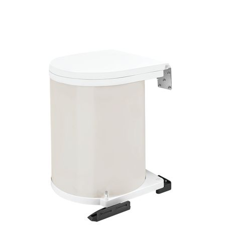 8-010 Series Built-In Pivot Out Round Metal Waste Container With Lid