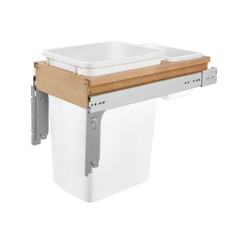 """4WCTM Series Door Mount Waste Container (1-3/4"""" Face Frame)"""