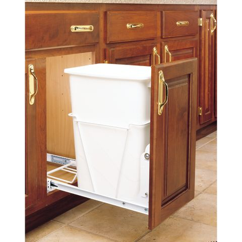RV Series Single Bottom Mount Waste Container with 3/4 Extension Slides
