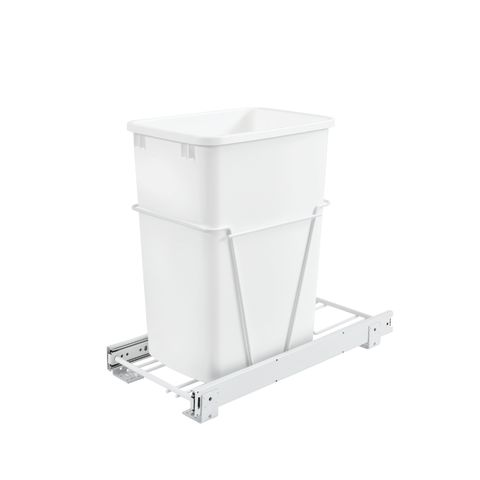 RV Series Single Pull-Out Waste Container With Full Extension Slides