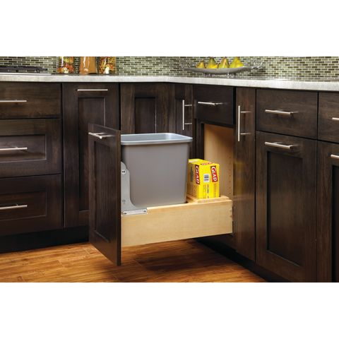 4WC Series Wood Bottom Mount Waste Container