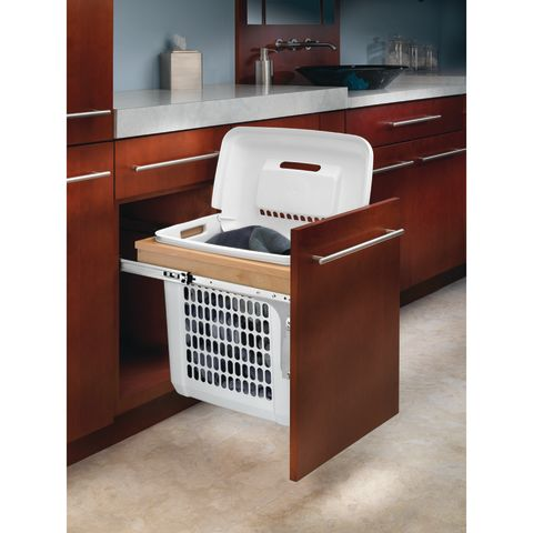 4VTM Series Top Mount Wood Vanity Hamper