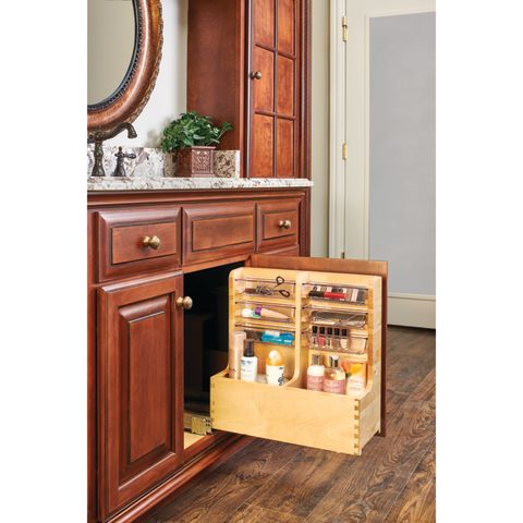 441 Series Maple L-Shaped Vanity Organizer