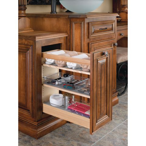 448 Series Blumotion™ Soft-Close Pull-Out Vanity Organizer - 6 Bins