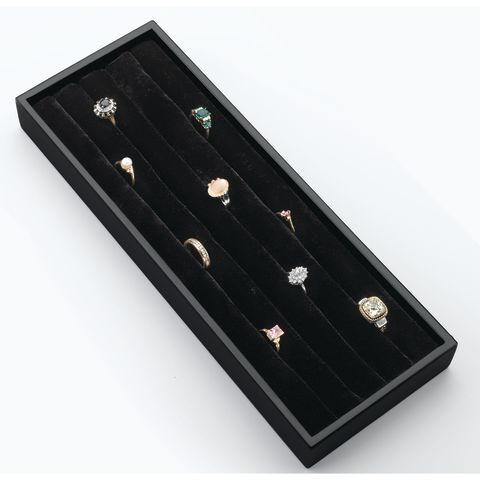 CVJD Series Undermount Jewelry Drawer Velvet Ring Organizer