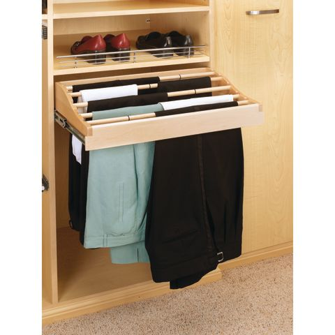 CW Series Wood Pull-Out Pant Organizer for Closet