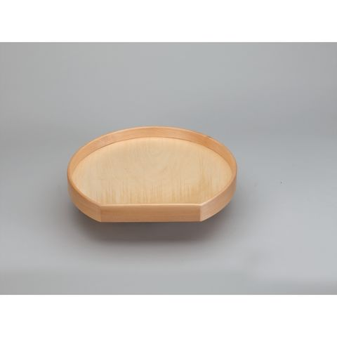 Lazy Daisy Natural Wood LD4NW200 Series Single Shelf D-Shaped Lazy Susan