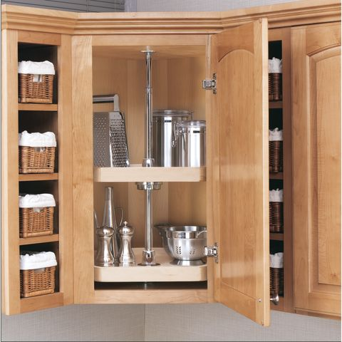 Wood Classic 4WLS200 Series D-Shape Two-Shelf Corner Lazy Susan
