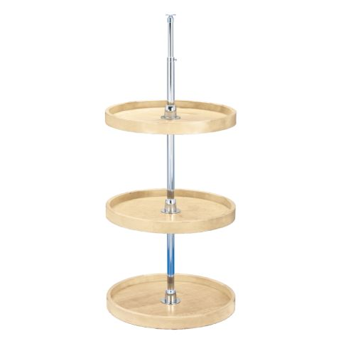 Wood Classic 4WLS Series Full Circle 3-Shelf Lazy Susan