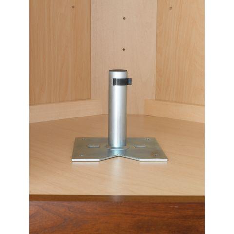 Single Shelf Bottom Mount Hardware for Value-Line™ Corner Lazy Susans
