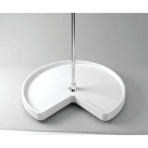 6471 Series Kidney Shape Polymer Single-Shelf Corner Lazy Susan