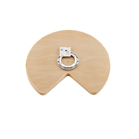 4WLS-401 Series Kidney Shape Wood Classic Single-Shelf (Not Drilled) Corner Lazy Susan