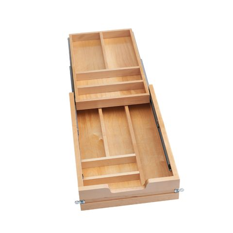 4WTCD Series Two-Tiered Wood Cutlery Drawer