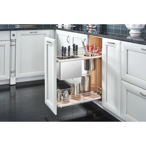 5322 Series Chrome Wire Base Cabinet Knife & Utensil Organizer