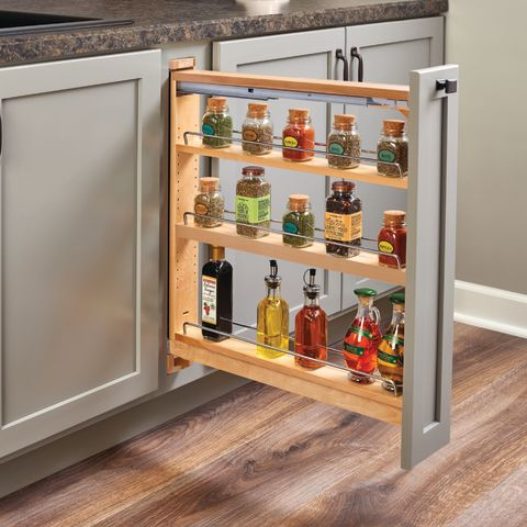 438 Series Pull-Out Base Cabinet Organizer With Soft Close Blumotion Slides