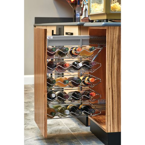 5375 Series Base Cabinet Wine Organizer With Soft-Close