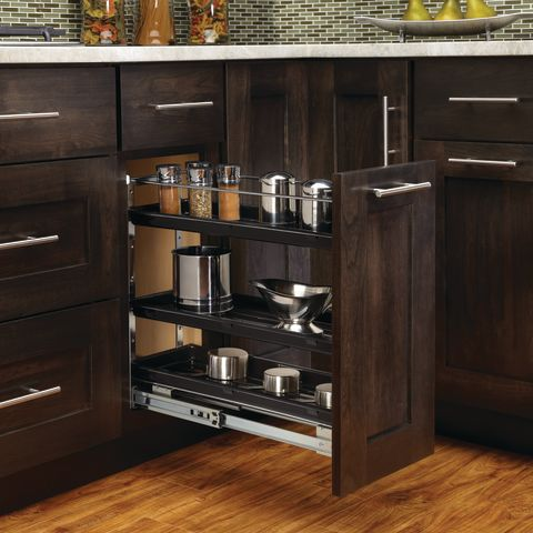 548 Series Bottom Mount Base Cabinet Chrome Pull-Out Organizer