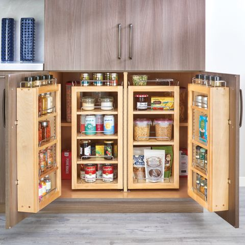 4WP Series Swing-Out Wood Pantry System - Complete Kit with Hardware (2 sets)