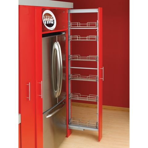 5200MP Series Soft-Close Chrome Pull-Out Pantry
