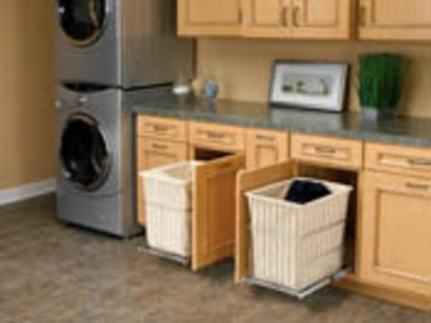 Rev-A-Shelf Hamper, Bottom Mount with Removable Wire Bin  and Canvas Liner for Bathroom/Vanity
