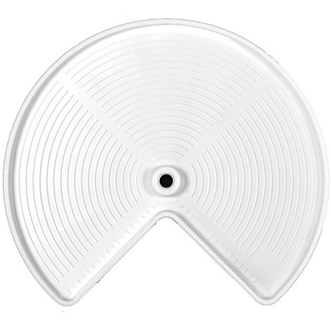 Rev-A-Shelf LD2400 Series Kidney Shaped Lazy Susan Polymer Single Shelf - Bulk Pack