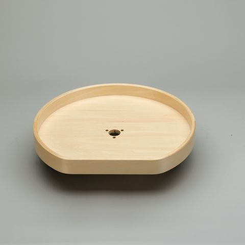 Drilled Shelves for Lazy Daisy LD4BW Series D-Shaped Banded Wood Lazy Susan - Bulk Pack