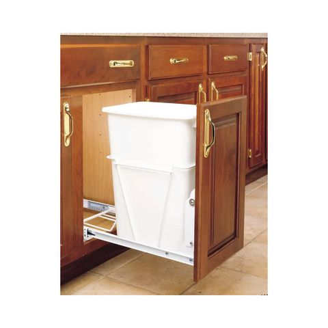 Single 35 Qt Bottom Mount Waste Container