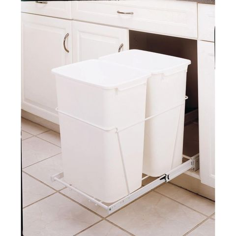 RV Series Double 35 Quart Pull-Out Waste Containers with Full Extension