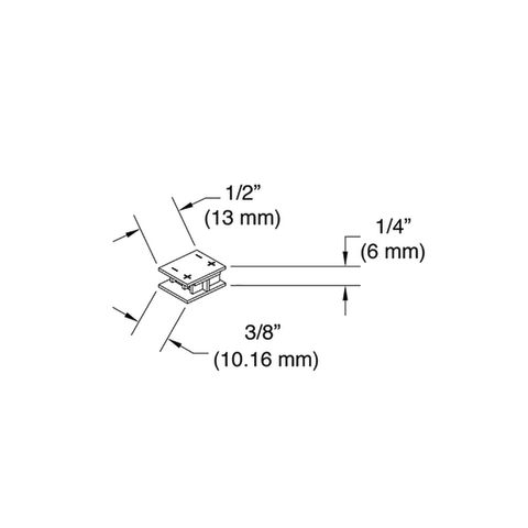 Tresco Snap Panel Mounting Clips - Pack of 6