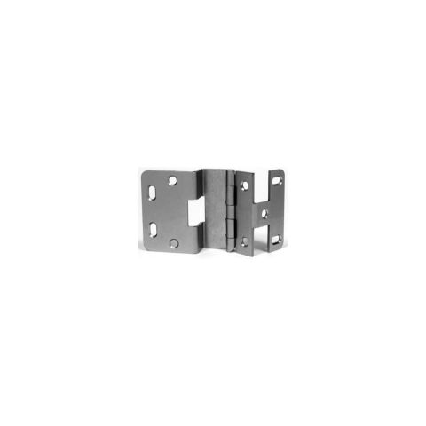Rockford Process Control Five Knuckle Overlay Hinge Dull Chrome 13/16 inch Door 3/4 inch Side 18mm