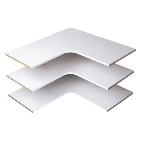 Easy Track Corner Shelves (3 pack)