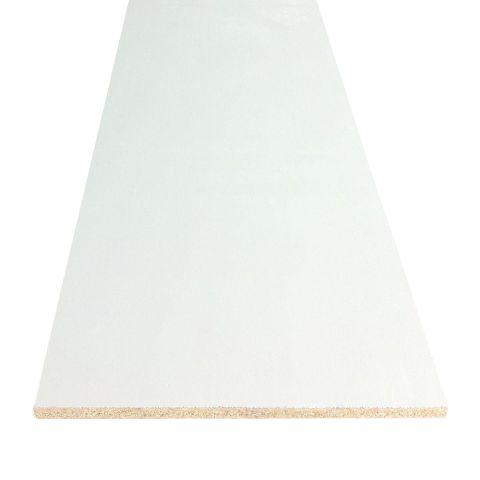 RediShelf White Prefinished Bull Nose Shelving  - 145 Inches