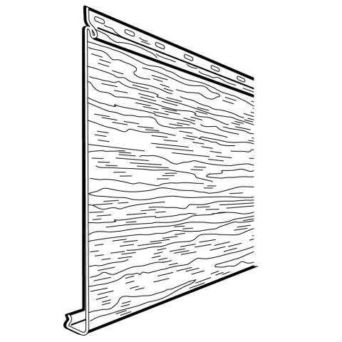 "Rollex Aurora Single 6"" Steel Siding - Woodgrain Finish"