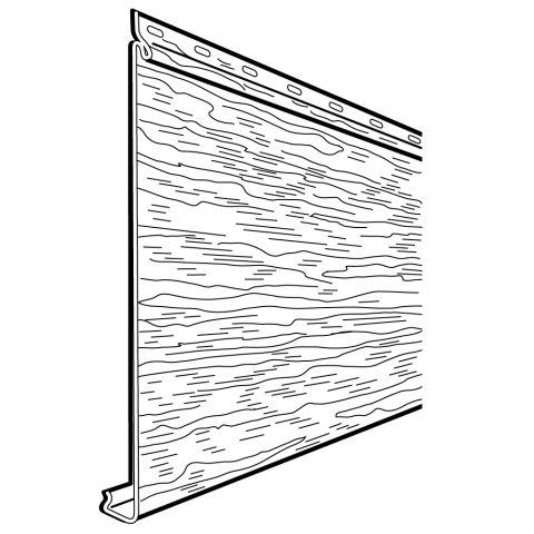 "Rollex Aurora Single 7"" Steel Siding - Woodgrain Finish"
