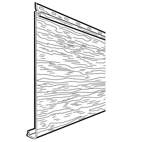 "Rollex Navigator Single 8"" Steel Non-Insulated Siding"
